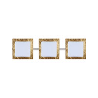 Alex LED 23 inch Satin Nickel Vanity Wall Light in Opal/Gold Foil Glass