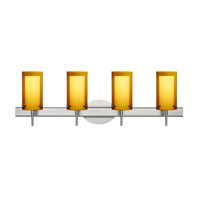 Pahu 4 Light 30 inch Satin Nickel Vanity Wall Light in Halogen