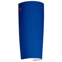 Besa Lighting 7041CM-LED-BR Tomas LED 5 inch Bronze ADA Wall Sconce Wall Light in Cobalt Blue Matte Glass