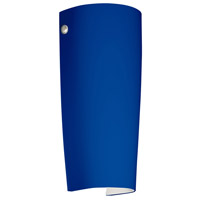 Besa Lighting 7041CM-LED-PN Tomas LED 5 inch Polished Nickel ADA Wall Sconce Wall Light in Cobalt Blue Matte Glass