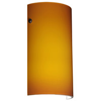 Besa Lighting 704280-LED-BR Tamburo 7 LED 7 inch Bronze ADA Wall Sconce Wall Light in Amber Matte Glass