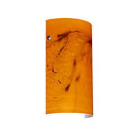 Besa Lighting 7042HB-SN Tamburo 7 1 Light 7 inch Satin Nickel ADA Wall Sconce Wall Light in Incandescent Habanero Glass