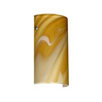 Besa Lighting 7042HN-SN Tamburo 7 1 Light 7 inch Satin Nickel ADA Wall Sconce Wall Light in Incandescent Honey Glass