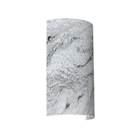 Besa Lighting 7042MG-SN Tamburo 7 1 Light 7 inch Satin Nickel ADA Wall Sconce Wall Light in Incandescent Marble Grigio Glass