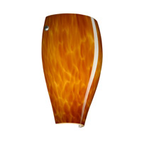 Besa Lighting 704318-SN Chelsea 1 Light 7 inch Satin Nickel ADA Wall Sconce Wall Light in Incandescent Amber Cloud Glass