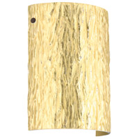 Besa Lighting 7090GF-LED-BR Tamburo 8 LED 8 inch Bronze ADA Wall Sconce Wall Light in Stone Gold Foil Glass