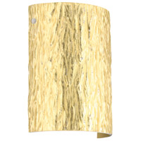 Besa Lighting 7090GF-LED-PN Tamburo 8 LED 8 inch Polished Nickel ADA Wall Sconce Wall Light in Stone Gold Foil Glass