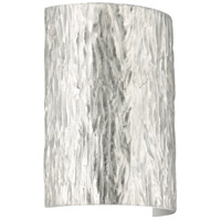 Besa Lighting 7090SF-LED-PN Tamburo 8 LED 8 inch Polished Nickel ADA Wall Sconce Wall Light in Stone Silver Foil Glass