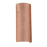 Torre LED 6 inch Satin Nickel ADA Wall Sconce Wall Light in Copper Foil Glass