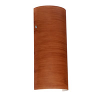Torre 1 Light 6 inch Satin Nickel ADA Wall Sconce Wall Light in Cherry Glass, Incandescent