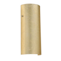 Besa Torre 1 Light Wall Sconce in Satin Nickel with Gold Foil Glass 8192GF-SN