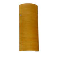 Torre LED 6 inch Satin Nickel ADA Wall Sconce Wall Light in Oak Glass