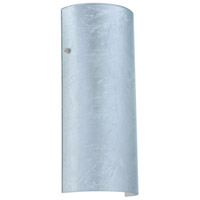 Besa Lighting 8192SF-PN Torre 14 1 Light 6 inch Polished Nickel ADA Wall Sconce Wall Light in Incandescent Silver Foil Glass