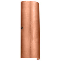 Besa Lighting 8193CF-BR Torre 18 2 Light 7 inch Bronze ADA Wall Sconce Wall Light in Incandescent Copper Foil Glass