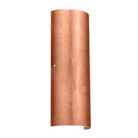 Torre LED 7 inch Satin Nickel ADA Wall Sconce Wall Light in Copper Foil Glass