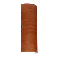 Besa Lighting 8193CH-SN Torre 18 2 Light 7 inch Satin Nickel ADA Wall Sconce Wall Light in Incandescent Cherry Glass