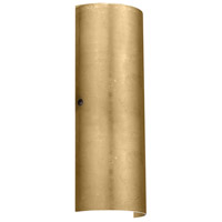 Besa Lighting 8193GF-LED-BR Torre 18 LED 7 inch Bronze ADA Wall Sconce Wall Light in Gold Foil Glass
