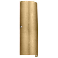 Besa Lighting 8193GF-PN Torre 18 2 Light 7 inch Polished Nickel ADA Wall Sconce Wall Light in Incandescent Gold Foil Glass
