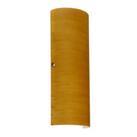 Torre LED 7 inch Satin Nickel ADA Wall Sconce Wall Light in Oak Glass