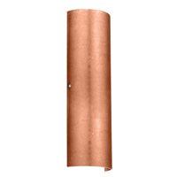 Besa Torre 2 Light Wall Sconce in Satin Nickel with Copper Foil Glass 8194CF-SN