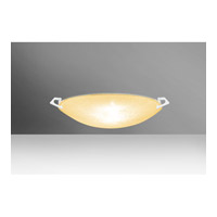 Besa Lighting 8417GD-LED-WH Sonya 13 LED 13 inch White Flush Mount Ceiling Light in Gold Glitter Glass
