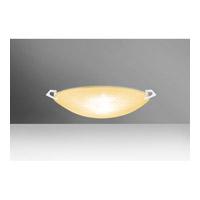 Besa Lighting 8417GD-WH Sonya 13 1 Light 13 inch White Flush Mount Ceiling Light in Halogen Gold Glitter Glass