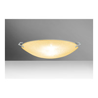 Besa Sonya LED Flush Mount in Polished Nickel with Gold Glitter Glass 8418GD-LED-PN