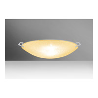 Besa Sonya LED Flush Mount in Satin Nickel with Gold Glitter Glass 8418GD-LED-SN