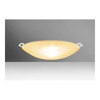 Besa Sonya LED Flush Mount in White with Gold Glitter Glass 8418GD-LED-WH
