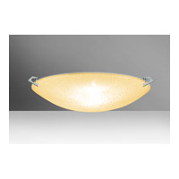 Sonya LED 21 inch Polished Nickel Flush Mount Ceiling Light in Gold Glitter Glass