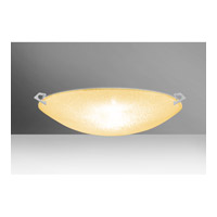 Sonya LED 21 inch Satin Nickel Flush Mount Ceiling Light in Gold Glitter Glass