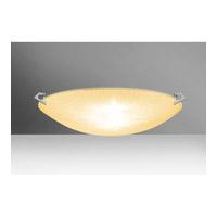 Besa Lighting 8419GD-PN Sonya 20 3 Light 21 inch Polished Nickel Flush Mount Ceiling Light in Halogen Gold Glitter Glass