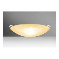 Besa Lighting 8419GD-WH Sonya 20 3 Light 21 inch White Flush Mount Ceiling Light in Halogen Gold Glitter Glass