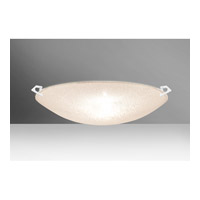 Besa Lighting 8419GL-WH Sonya 20 3 Light 21 inch White Flush Mount Ceiling Light in Halogen Glitter Glass