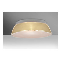 Pica LED 17 inch Flush Mount Ceiling Light in Creme Sand Glass