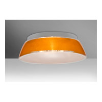 Besa Lighting Pica 3 Light 17 inch Flush Mount Ceiling Light in Gold Sand Glass Incandescent