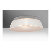 Besa Lighting Pica 3 Light 17 inch Flush Mount Ceiling Light in White Sand Glass Incandescent
