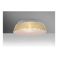 Besa Pica LED Flush Mount in Creme Sand Glass 9663CRC-LED