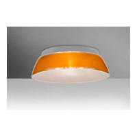 Besa Lighting 9663GDC Pica 17 2 Light 13 inch Flush Mount Ceiling Light in Incandescent Gold Sand Glass