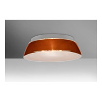 Pica LED 13 inch Flush Mount Ceiling Light in Tan Sand Glass