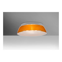 Besa Pica 1 Light Flush Mount in Gold Sand Glass 9664GDC