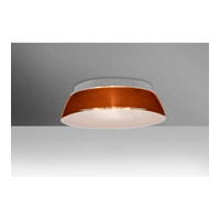 Besa Pica 1 Light Flush Mount in Tan Sand Glass 9664TNC