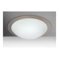 Besa Ring 3 Light Flush Mount in White/Smoke Ring Glass 977002C