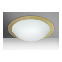 Besa Ring 3 Light Flush Mount in White/Gold Ring Glass 977003C
