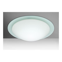 Besa Ring 3 Light Flush Mount in White/Frost Glass 977025C