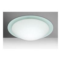 Besa Lighting 977025C Ring 19 3 Light 19 inch Flush Mount Ceiling Light in Incandescent White/Frost Glass