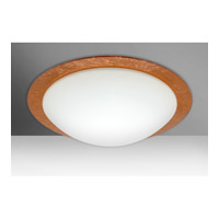 Besa Ring 3 Light Flush Mount in White/Copper Foil Glass 9770CFC