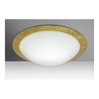 Besa Ring 3 Light Flush Mount in White/Gold Foil Glass 9770GFC