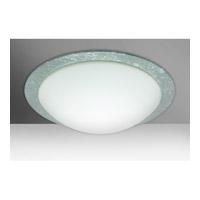 Besa Lighting 9770SFC Ring 19 3 Light 19 inch Flush Mount Ceiling Light in Incandescent White/Silver Foil Glass