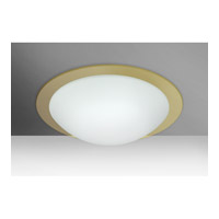 Besa Ring LED Flush Mount in White/Gold Ring Glass 977103C-LED